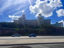 Hotel Nacional de Cuba. The Hotel Nacional de Cuba is a historic luxury hotel located on the Malecón in the middle of Vedado, Havana, Cuba. It stands on Royalty Free Stock Images