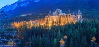 Hotel nas montanhas Foto de Stock Royalty Free