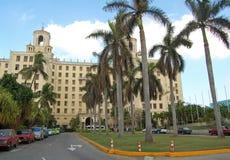 Hotel Nationaal in Cuba Stock Afbeelding