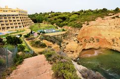 Hotel near the coast of the Algarve Royalty Free Stock Photography