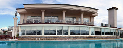 Hotel near swimming pool Stock Image