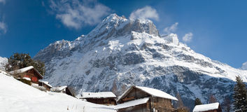 Free Hotel Near The Grindelwald Ski Area. Swiss Alps At Winter Stock Images - 57940134