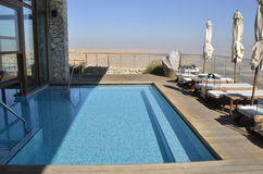 Hotel in Negev desert. Stock Photo
