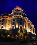 Hotel Negresco de nacht Royalty-vrije Stock Fotografie
