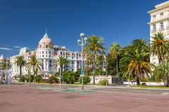 Hotel Negresco en la 'promenade' inglesa en Niza Foto de archivo