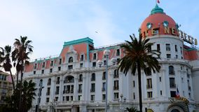 Hotel Negresco en Niza, Cote d'Azur imágenes de archivo libres de regalías