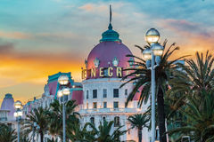 Hotel Negresco in Nice France Royalty Free Stock Images