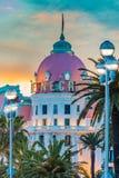Hotel Negresco in Nice France Stock Image