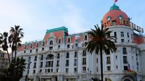 Hotel Negresco in Nice, Kooi D 'Azur stock fotografie