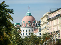 Hotel Negresco. In Nice view from afar royalty free stock photography
