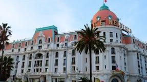 Hotel Negresco in Nizza, Cote d'Azur lizenzfreies stockbild