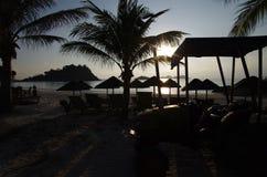 Hotel nell'isola di Redang della Malesia immagine stock