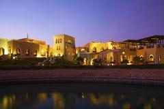 Hotel nell'Oman Fotografia Stock Libera da Diritti