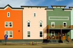 Hotel nella città di Dawson Fotografia Stock