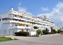 Hotel nella località di soggiorno di Vilamoura, Portogallo Immagine Stock Libera da Diritti