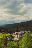 Hotel nelle montagne Immagine Stock