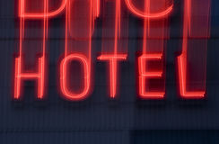 Hotel Neon sign Stock Photos