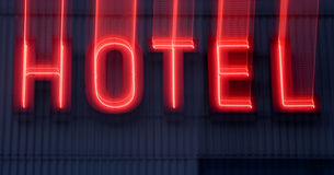 Hotel Neon sign Royalty Free Stock Images