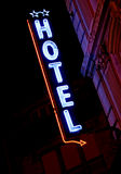 Hotel-Neonzeichen Lizenzfreies Stockbild