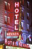 Hotel Nevada, neon sign Royalty Free Stock Images