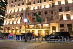Hotel New York City de la plaza fotos de archivo libres de regalías