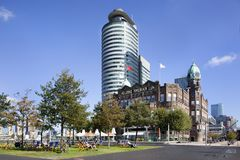 Hotel New York in Rotterdam lizenzfreie stockfotografie