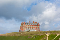 Hotel Newquay Cornovaglia Regno Unito del promontorio Fotografia Stock