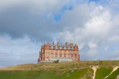 Hotel Newquay Cornualha Reino Unido do promontório Fotografia de Stock