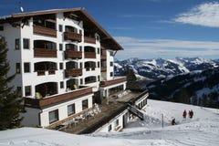 hotel śnieg Obrazy Royalty Free