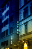 Hotel in the night Royalty Free Stock Photography