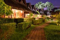 Hotel at night Royalty Free Stock Image