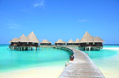 Hotel no paraíso Imagem de Stock