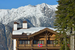 Hotel of Norvegian athletes in the Olympic village in Sochi Royalty Free Stock Photography
