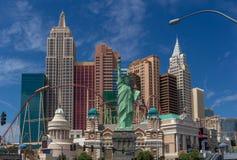 Hotel Nueva York Nueva York en la tira de Las Vegas imagen de archivo