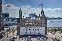 Hotel Nueva York en Wilhelminapier imagen de archivo