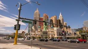 Hotel Nueva York Nueva York Las Vegas - LAS VEGAS, NEVADA APRIL 12, 2015 Fotos de archivo libres de regalías