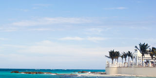 Hotel ocean view. Hotel resort in cancun with a beach sea view Royalty Free Stock Photography