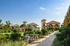 Hotel in Oeganda op het Meer Victoria stock foto