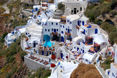 Hotel Oia auf Santorini Insel, Griechenland Lizenzfreie Stockbilder
