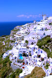 Hotel in Oia on Santorini Island, Greece Royalty Free Stock Images