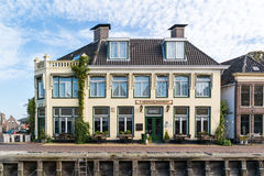 Hotel in old town of Harlingen, Netherlands Royalty Free Stock Photography