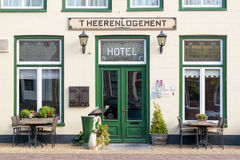 Hotel in old town of Harlingen, Netherlands Royalty Free Stock Images