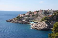 Hotel On Croatian Coast Stock Image