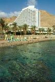 Hotel op een kust van Rode overzees Stock Afbeelding