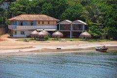 Hotel op het strand in Azië Stock Afbeeldingen