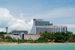 Hotel op strand 2 Royalty-vrije Stock Afbeelding