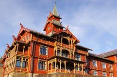 Hotel Oslo del parque de Holmenkollen fotos de archivo