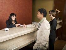 Hotel - osoba w podróży służbowej obrazy royalty free