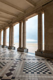 Hotel at Ostend beach. Outside corridor of a hotel Stock Photography