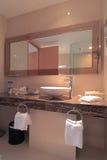 Hotel ou banheiro elegante do apartamento Fotos de Stock Royalty Free